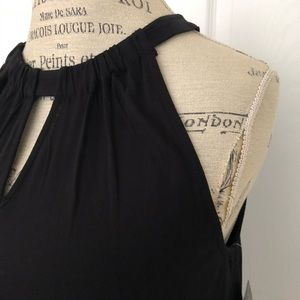 INC brand sleeveless black/white blouse. NWT. Sz L